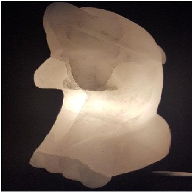 Magia del sale Torino | Lampada di sale bianco Delfino